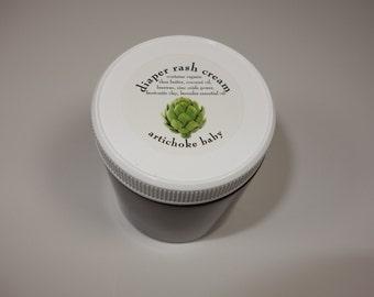 organic baby diaper rash cream 4 oz. shea butter coconut oil zinc bentonite clay