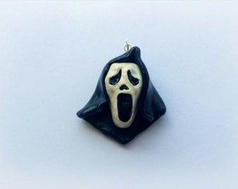 Scream ghostface mask pendant