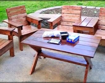 4 Piece Wooden Patio Set - Custom Woodworking - Ashland City, TN