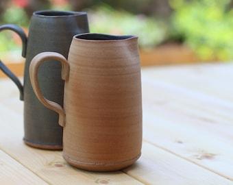 ceramic pitcher, water pitcher, ceramic water pitcher, blue water pitcher, ceramic wine pitcher, wine pitcher, stoneware pitcher, gift