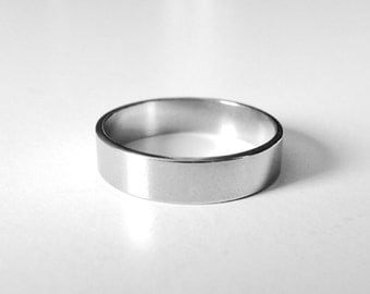 5 pc 5 mm width size 10  Stainless steel ring blank  , ring stamping blank, engraving ring blank, Stainless steel ring