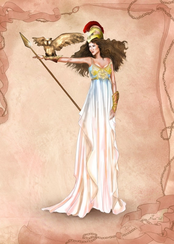 Items Similar To Ancient Greece Inspired Greek Athena