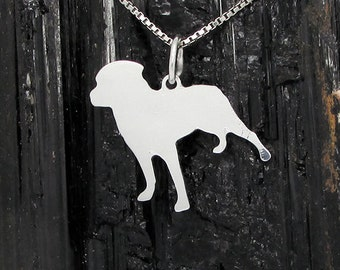 Rottweiler Sterling Silver Pendant