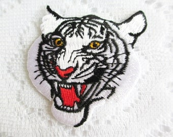 Tiger Iron On Patch, Embroidery Applique Sew On Patch, Applique Embroidery