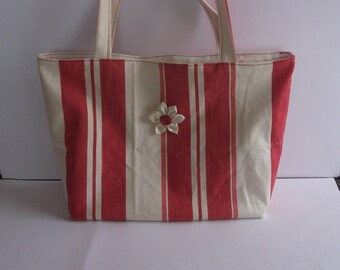 tote bag beach or race in fabric