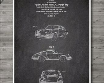 Porsche 911 poster, Porsche patent, Porsche print, Porsche Art, Porsche Wall Decor no19