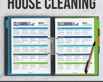 House Cleaning Kit | Interactive | Editable PDF | Printable | Organizer