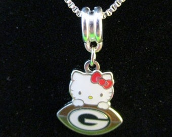 "GREEN BAY PACKERS  ""Hello Kitty""  Necklace"