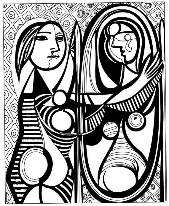 Pablo Picasso Mädchen im Spiegel