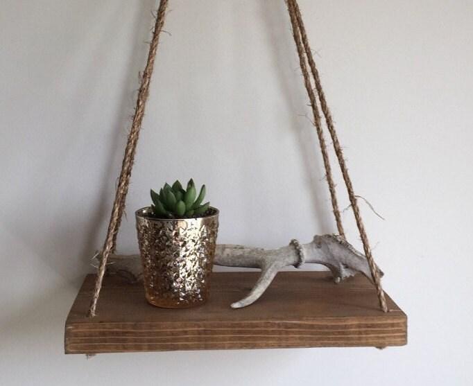 Reclaimed Wood Hanging Shelf Reclaimed Wood Suspended Shelf