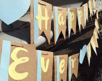 Happily Ever After Banner - Wedding Banner - Wedding Sign - Party Photo Prop
