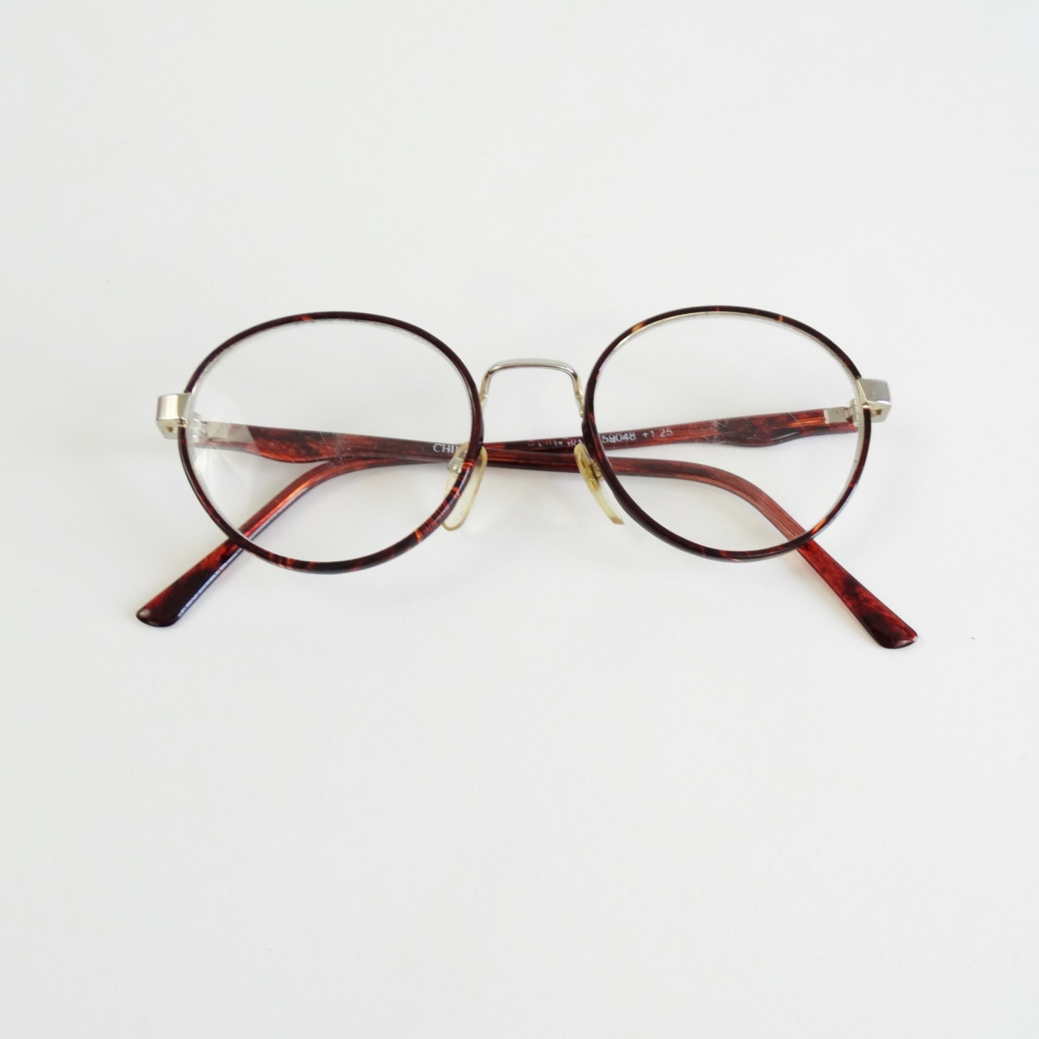590bfce975 RESERVED 80S ROUND EYEGLASSES - VINTAGE 1980S CIRCLE GLASSES - PLASTIC THIN  FRAMES EYE WEAR - TORTOISE SHELL BROWN CLEAR - READING GLASSES on The Hunt