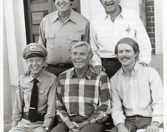 Return to Mayberry  1986  NBC Television Promo Photograph Jim Nabors George Lindsey Don Knotts Andy Griffith Ron Howard Free #86 8 x 10 inch
