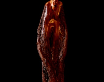 "Wood Sculpture, Hand Carved, ""Willow Spirit"""