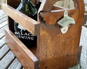 Faux Reclaimed Wood Bottle Carrier