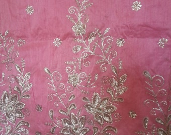 Clearance sales! Pink silver George/Africa Attire/Wedding clothes/Lace Georges/George Hollandisc/Lace Fabric/ Sewing Supplies