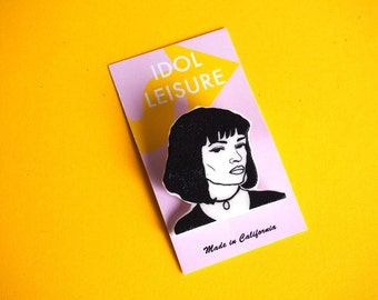 Mia Wallace Pin  / Pulp Fiction /  Best Friend Gift / Stocking Stuffer / Movie Lover