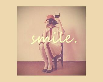 Printable fine art photography SMILE