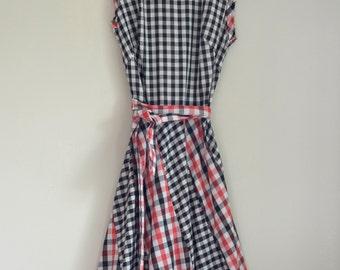 Vintage Handmade 70's Gingham Long Picnic Dress