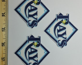 Tampa Bay Rays Patches, Tampa Bay Rays Iron On, Tampa Bay Rays Appliques, Tampa Bay Rays Patch, Tampa Bay Rays Sew On, Tampa Bay Rays