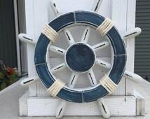 Ship 39 S Wheel Vintage Ship Wheel Nautical Decor Vintage Beach Decor