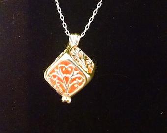 square essential oil diffuser necklace