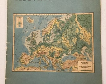 1954 Historical Atlas - C.S. Hammond & Co. - Travel/Geography - Paperback