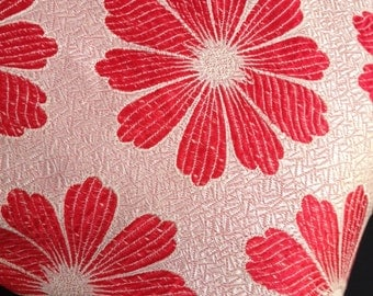 Two Vintage Fabric Big Flower Cushion Covers. Hot Pink Flower Power