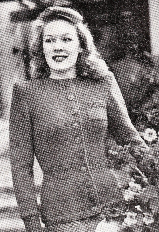 Wartime Knitting Patterns : 1940s womens knit patterns wartime fashion WW2 by Juandah on Etsy