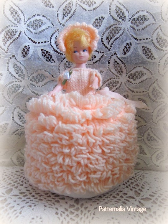 Vintage Toy Potty : Vintage toilet roll cover doll kitsch