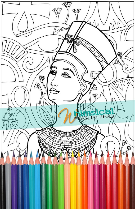 Coloring Books For Adults History : Eygptian coloring pages history historical by WhimsicalPublishing