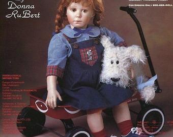 "FREE US SHIP Bell Ceramics Doll Inc Artworks Cyrstal by Donna Rubert 28"" Jumper Blouse Sewing Pattern Ceramic Mold Dolls"