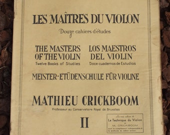 Book masters of the violin