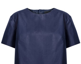 Ladies shirt navy blue
