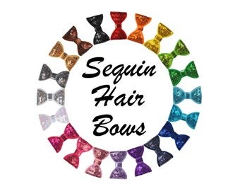 "2"" Sequin Hair Bows"