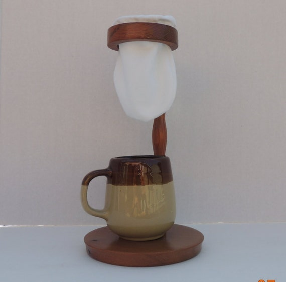 Pour Over Coffee Maker Handmade : Handmade Wooden Costa Rica Style-Coffee by PuraVidaTurnings