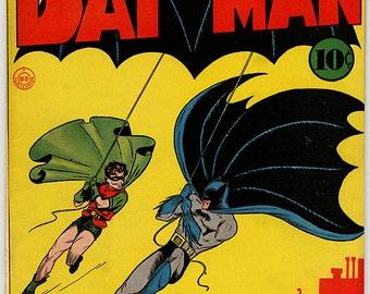 Superhero Batman Vintage Comic Book Poster