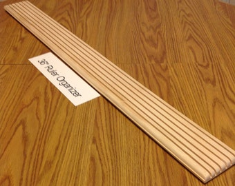 """EXTRA LONG  (36"""" x 3.5"""" x 1"""")  Quilt Ruler Organizer  --  (6 Thin, 1/8"""" Grooves)  -  (Item # 2)"""