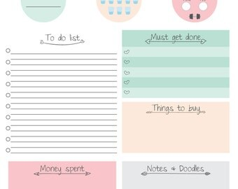 Printable Daily Planner Color Joy