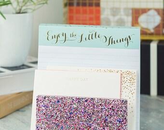 Letter Sorter-Acrylic-Multi Glitter- Desk- Organization