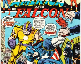 Captain America and the Falcon 170, Marvel Comics comic book. Vintage Bronze Age, Moonstone, 1974. Choose VF or VFNM (9.0)