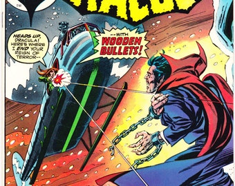 The Tomb of Dracula 20, Vampire, Horror Comic book, Universal Blood Monsters. Van Helsing tales. 1974 Marvel Comics in NM (9.4)
