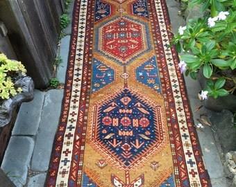 """Antique Persian Serab Rug c1910 from Northwest Persia 3'3"""" x 12'3"""""""