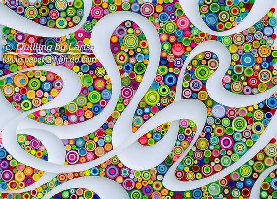 Quilling Wall Art Design : Quilling art wall paper framed
