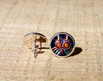 Majoras Mask Stud earrings, Legend of Zelda Earrings, Hypoallergenic, nekel free
