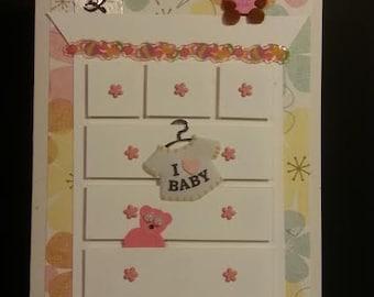 Handmade Welcome Baby Card