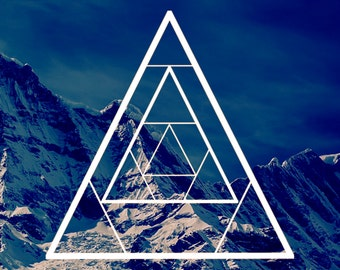 Geometric Triangle Art Print | Modern, Mountain, Explorer, Filter