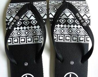 DBlaq Aztec Print Flip Flops