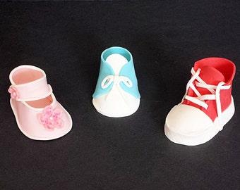 Fondant Baby Shoe Kit -- Create Adorable Fondant Baby Shoes Like These Shown