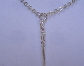 Pendant - Hermione wand - Harry Potter - Bronze, gold, silver - collar imitation